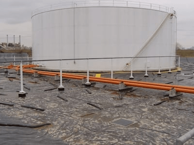 Geomembrane Liner at BNSF Argentine Yard.