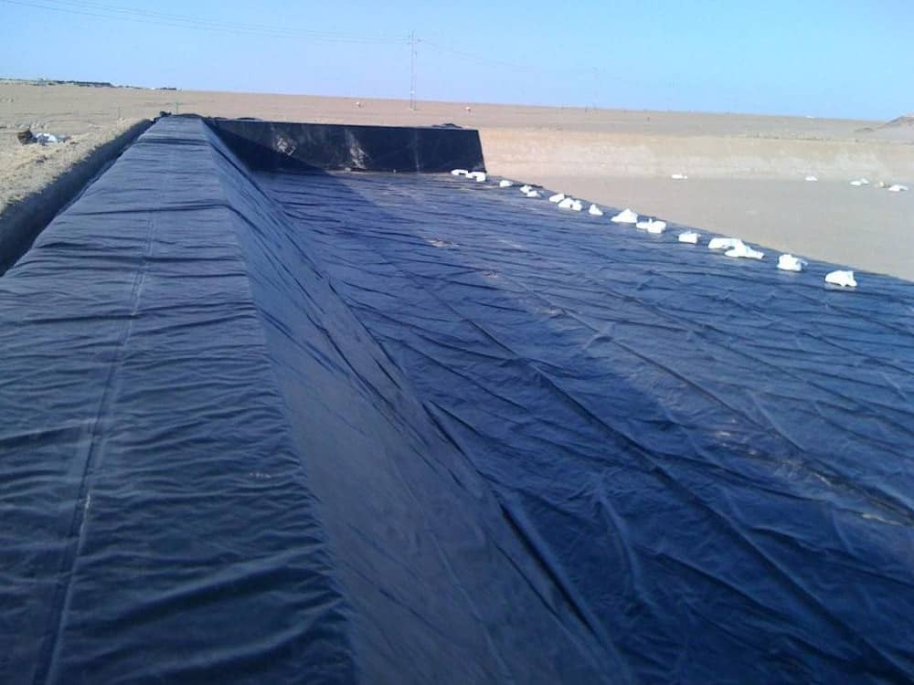 heap leaching pad liners