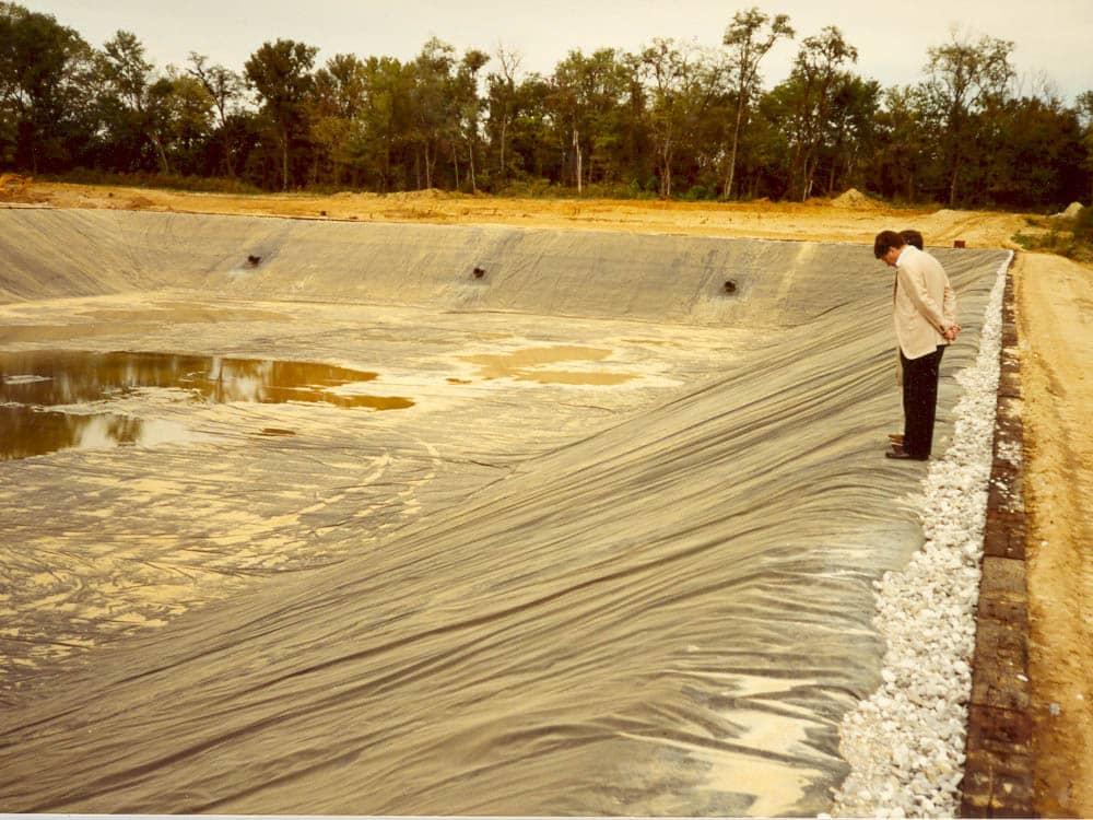 henderson wastewater impoundment liner