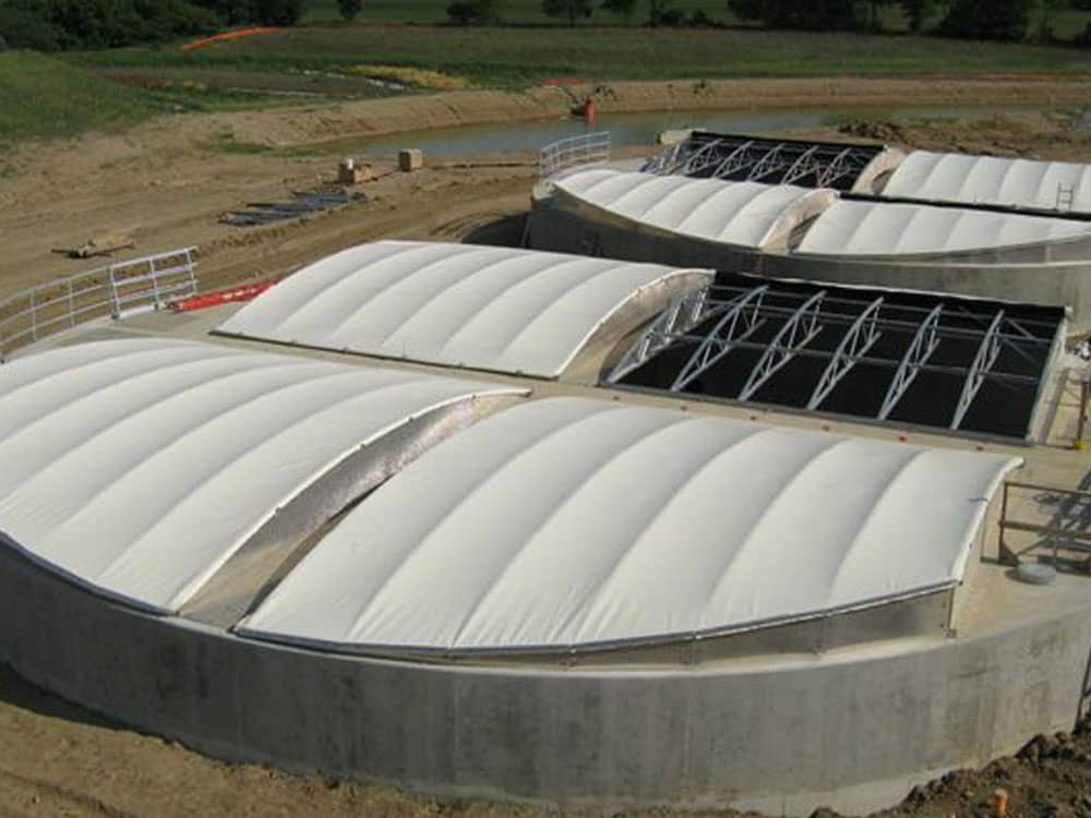 two potable water tank liners