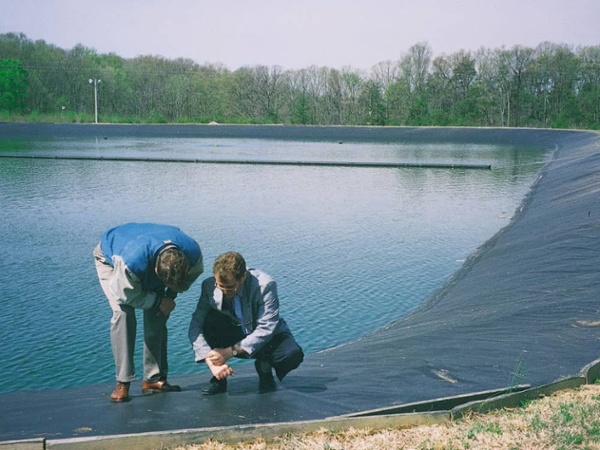 wastewater impoundment liner