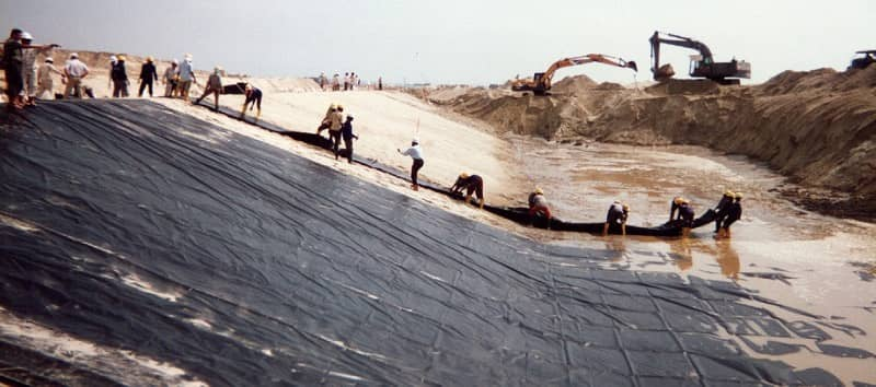 An XR Geomembrane Installation