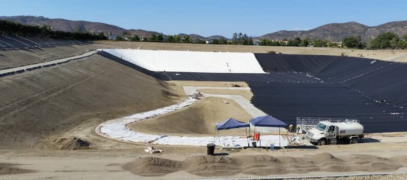 XR-5 Geomembrane Being Installed in San Diego, CA
