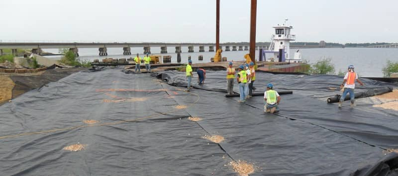 XR Geomembrane Decon Station Installation at Biloxi Bay