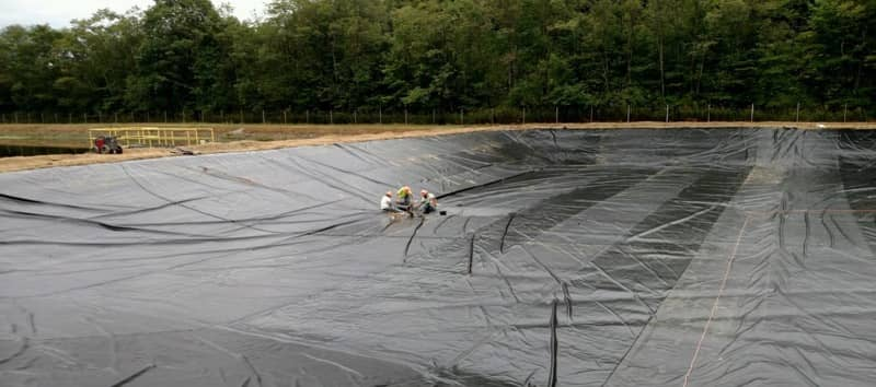 XR Geomembranes Installation at Laurel Hill State Park