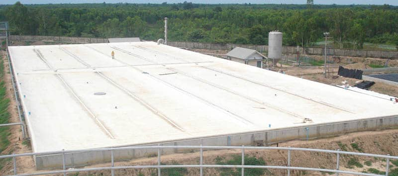 XR Geomembranes Cream Floating Cover