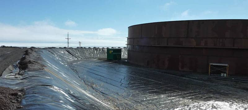 XR Geomembrane Secondary Containment Installation