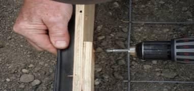 Figure 3: Attaching Embedment Strip to Concrete Form
