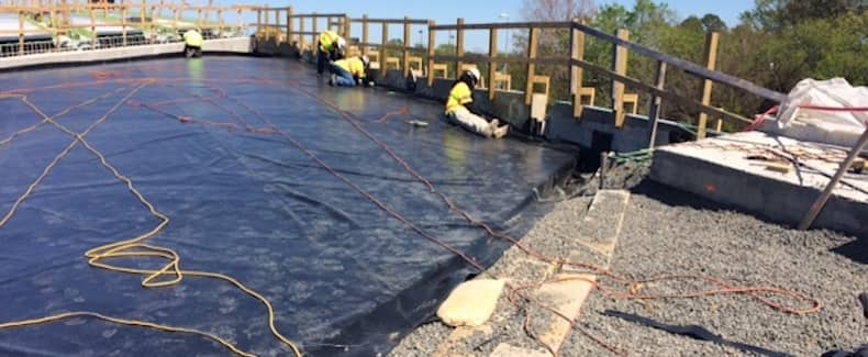 MLK Bridge - Geomembrane covering Geofoam