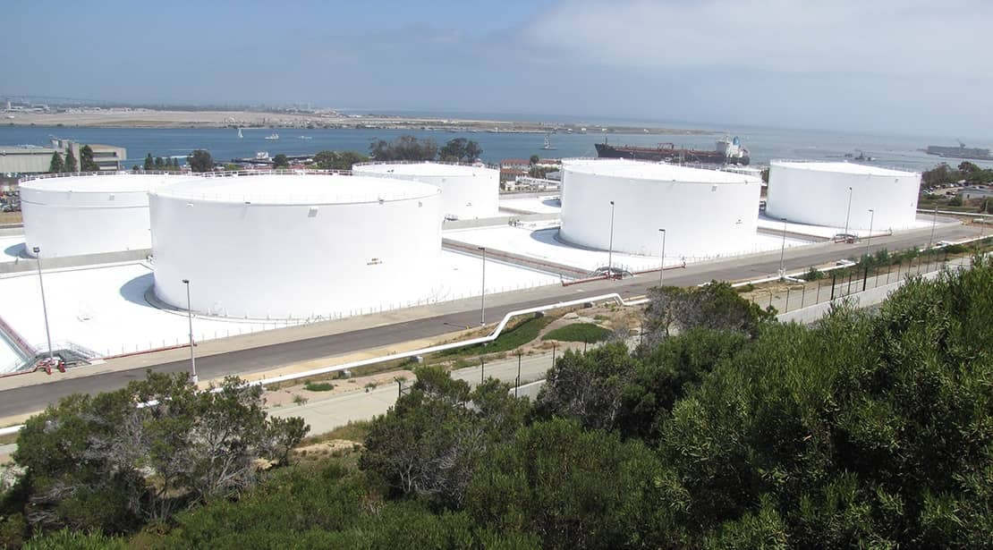White XR-5® membrane used on the First LEED Certified Fuel Storage ...