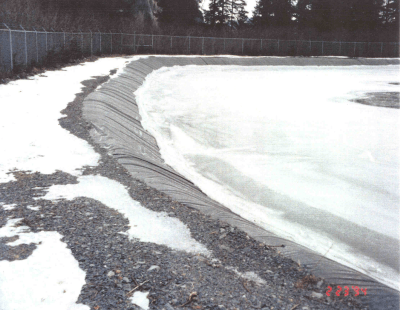 Wastewater Treatment Plant Protected With Reinforced Geomembrane