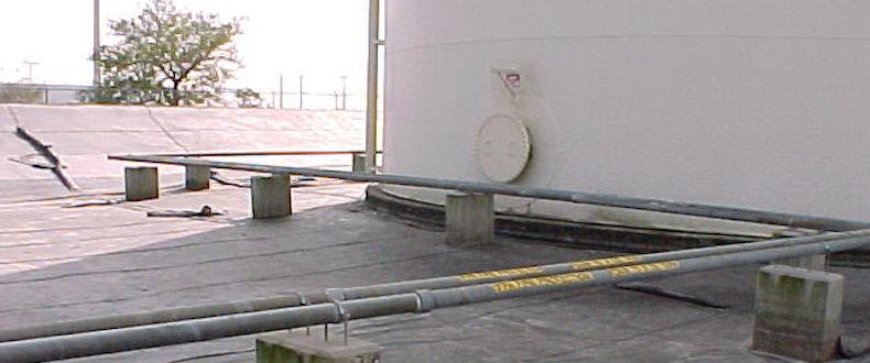 XR-5 being used as a dike liner around aboveground dieseal fuel tanks.